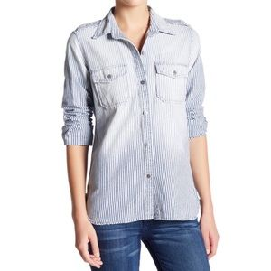 Current Elliot The Perfect Shirt, Hickory Dee SZ S